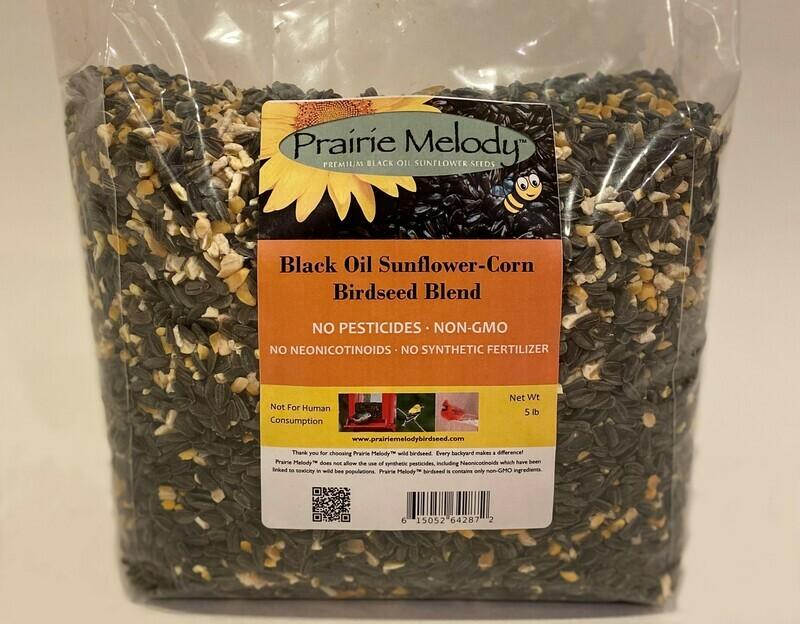 ** FREE SHIPPING ** Pesticide Free Sunflower - USDA Organic Cracked Corn Birdseed Blend - 5 pound