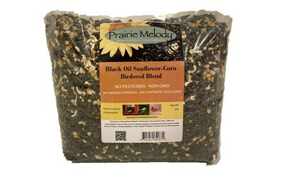 ** FREE SHIPPING ** Pesticide Free Sunflower - USDA Organic Cracked Corn Birdseed Blend - 40 pound