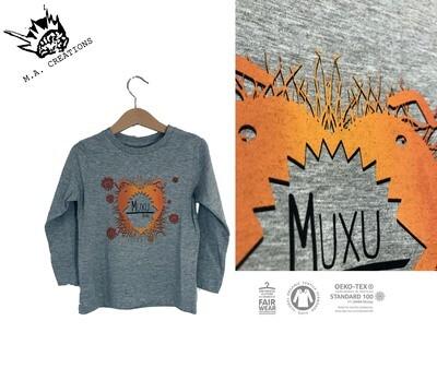 T-SHIRT ENFANT manches longues en coton Bio - #muxu/bisou