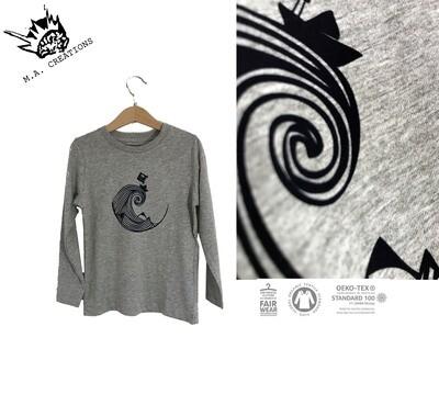 T-shirt manches longues Coton Bio - #piratedepapier