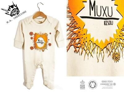 Pyjama Coton Bio - #muxu/bisou