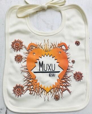 Bavoir coton bio - #muxu/bisou