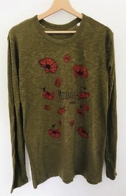 T-shirt manches longues en Coton Bio #Milesker/Merci