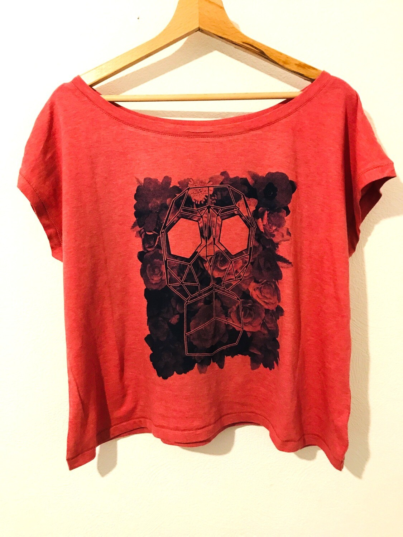 "T-shirt type ""crop top"" Coton Bio - #leparfum"