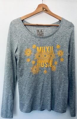 T-shirt manches longues en Coton Bio #Muxu/Bisou
