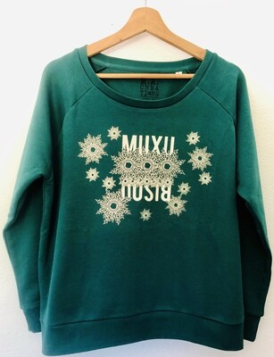Sweat loose en Coton Bio #Muxu/Bisou