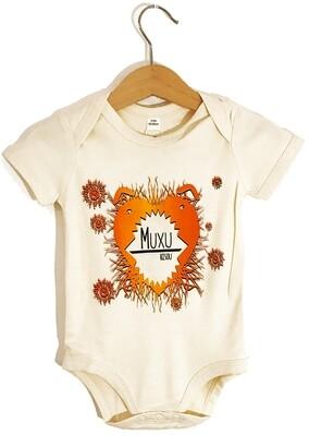 Body Coton Bio manches courtes - #muxu/bisou