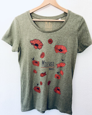 T-shirt Coton Bio - #Milesker/Merci