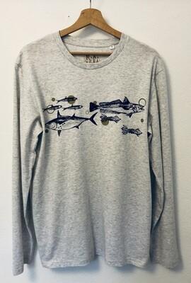 T-shirt manches longues Coton Bio - #frituredujourbonjour