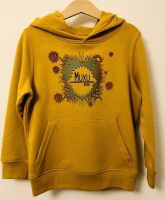 SWEAT à capuche coton bio #muxu/bisou
