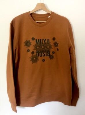 Sweat droit Coton Bio #Muxu/Bisou