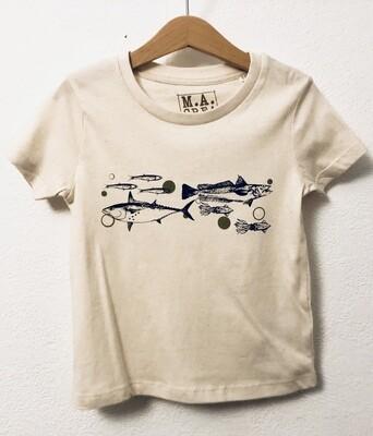 T-SHIRT ENFANT manches courtes en coton Bio - #frituredujourbonjour