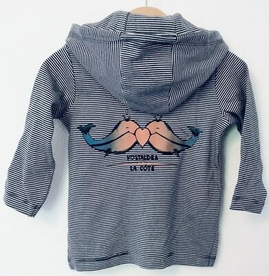 Veste à capuche marinière Bébé- #kostaldea/lacôte