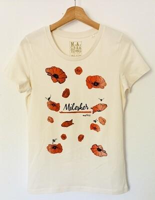 T-shirt ajusté Coton Bio - #Milesker/Merci