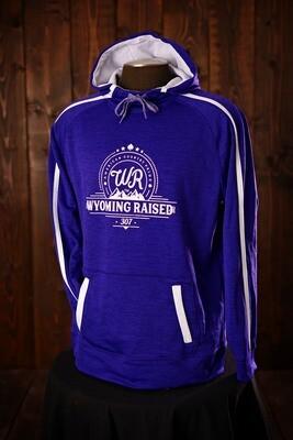 Wyoming Raised Stoked Tonal Heather Purple/White