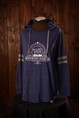 Wyoming Raised Ladies Low Key Pullover Vintage Navy