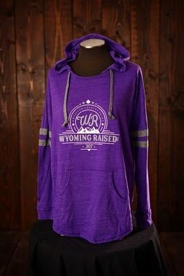 Wyoming Raised Ladies Low Key Pullover - Purple