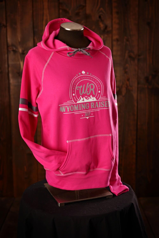 Wyoming Raised Hot Pink Spry Hoodie