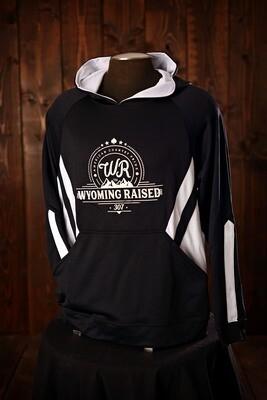 Wyoming Raised Argon Hoodie Black/White