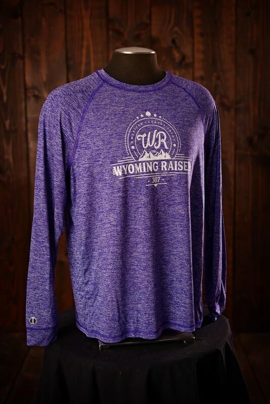 Wyoming Raised Electrify Long Sleeve Purple Heather