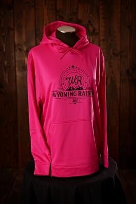Wyoming Raised Wicking Fleece Hoodie - Powder Pink