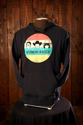 Vintage Wyoming Raised Face Hoodie