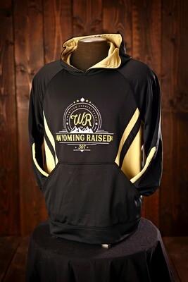 Wyoming Raised Argon Hoodie Black/Gold