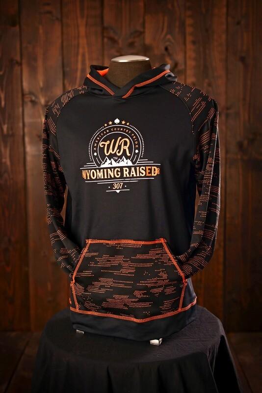 Wyoming Raised - Orange/Black Sleet Hoodie