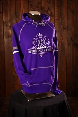 Wyoming Raised Purple Spry Hoodie