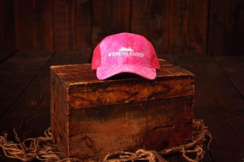 Wyoming Raised  - High Pony Tail baseball Hat