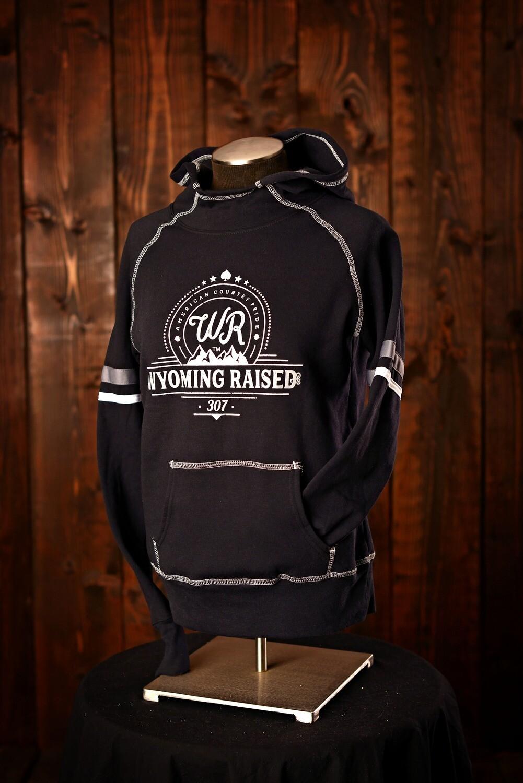 Wyoming Raised Black Spry Hoodie