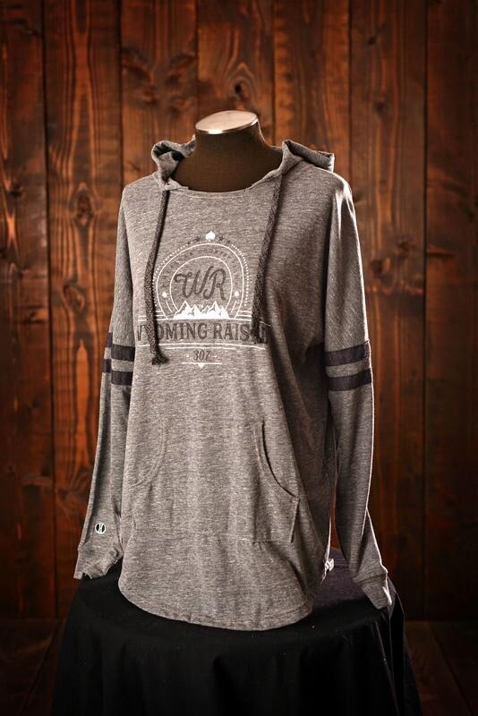 Wyoming Raised Ladies Low Key Pullover - Light Gray