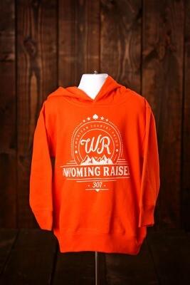 Wyoming Raised Toddler Hoodie -Orange