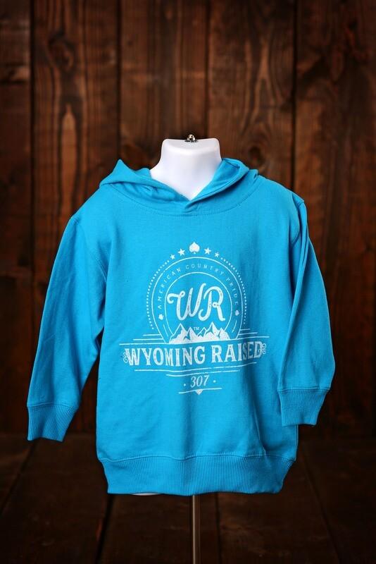 Wyoming Raised Toddler Hoodie -Turquoise