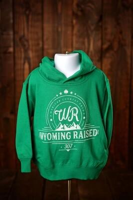 Wyoming Raised Toddler Hoodie - Kelly Green