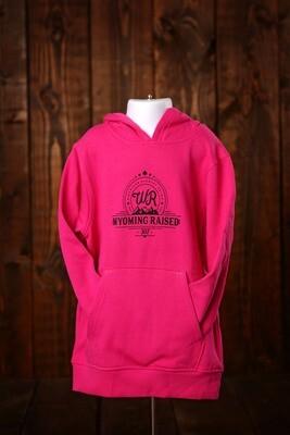 Wyoming Raised Hot Pink Hoodie -YOUTH