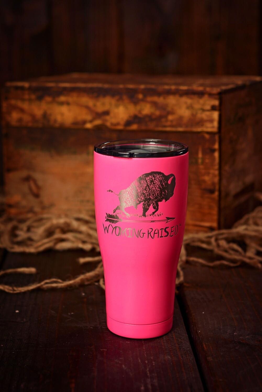Wyoming Raised Hot Pink Tumber