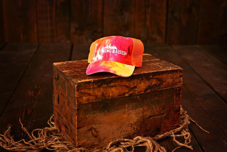 Wyoming Raised Tie Dye High Pony Tail Hat