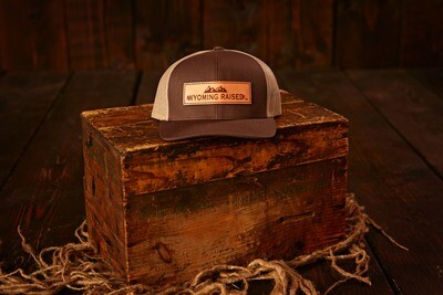 Wyoming Raised Leather Patch Baseball hats.