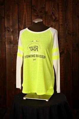 Wyoming Raised Baseball Shirt