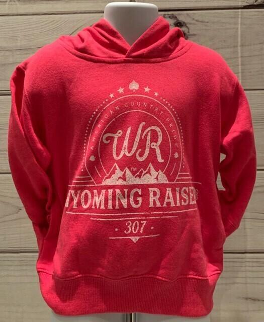 Wyoming Raised Toddler Hoodie -Hot Pink