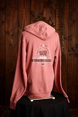 Wyoming Raised Zip Up Hoodie - Mauve