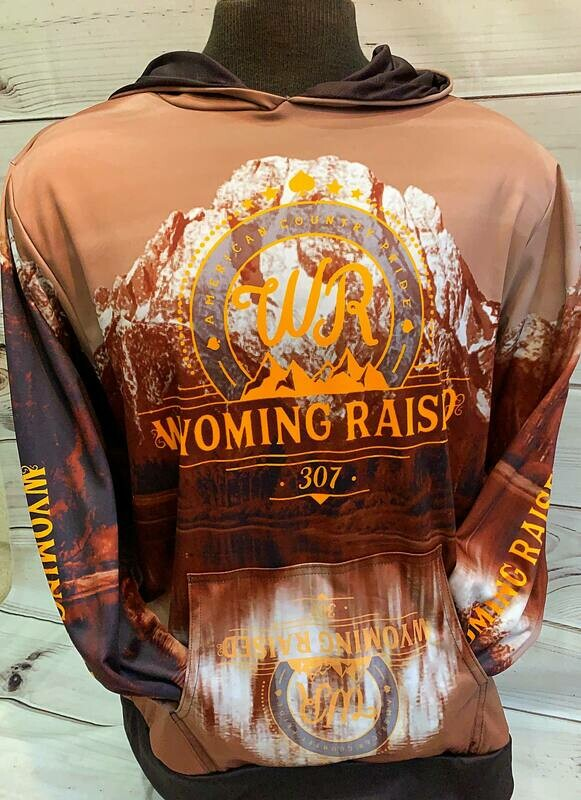 Brown/Gold Sublimation Hoodie
