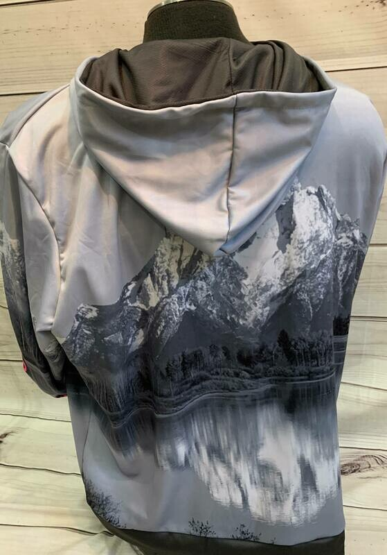 Gray Sublimation Hoodie