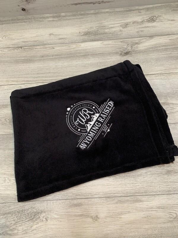 Black Embroidered Stadium Blanket
