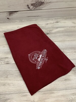 Burgundy  Embroidered Stadium Blanket