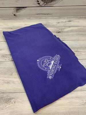 Purple Embroidered Stadium Blanket