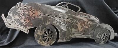 1935 Auburn Cord Boat Tail Speedster 24″, Metal Wall Art Decor