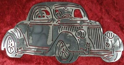 1936 Ford 3 Window Coupe 12″ Metal Wall Art Decor