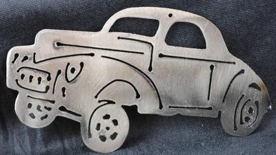 1941 Willy's Gasser 5″, Wall Art, Magnet